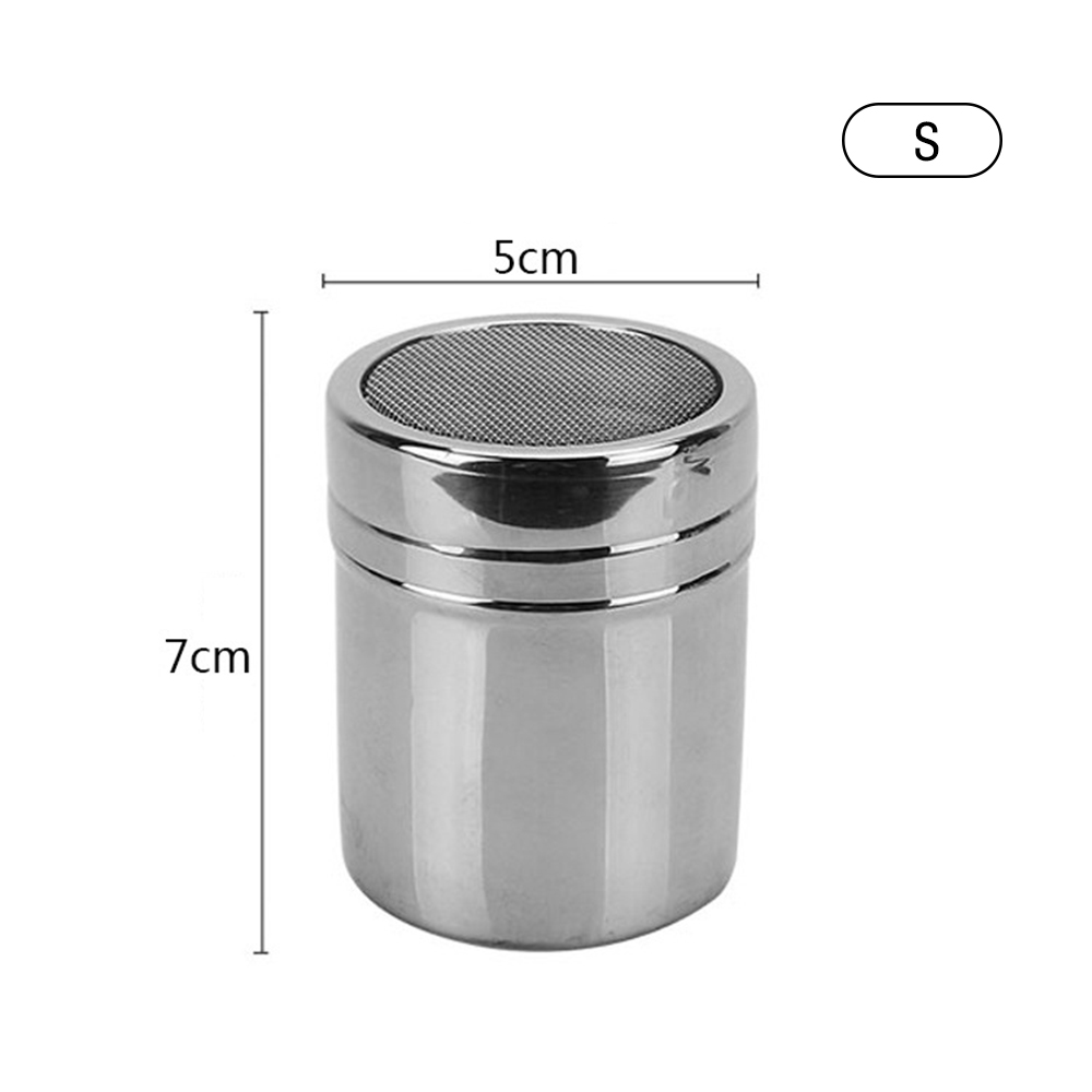 Stainless Steel Chocolate Shaker Cocoa FlourSugar Powder Coffee SpraySifter