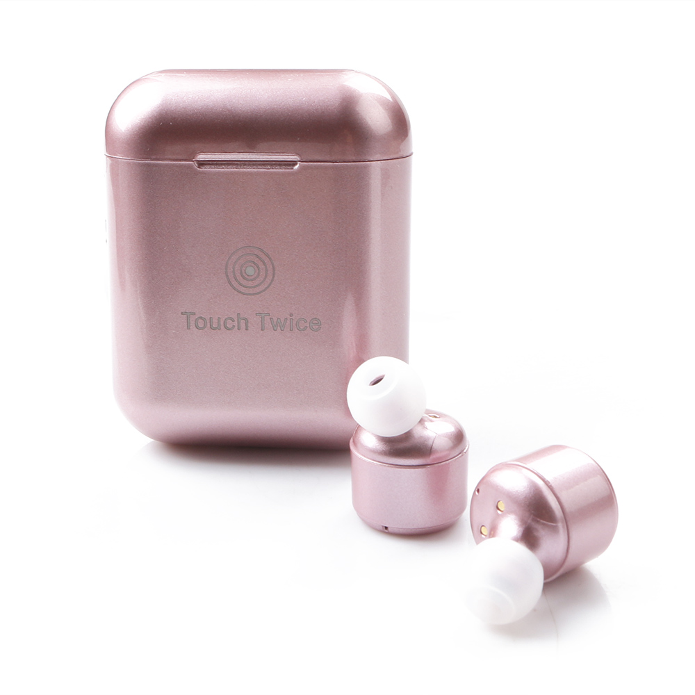 Wholesale X3T Wireless Bluetooth V4.2 Touch In-ear Stereo Earphone Earbud Rose Gold