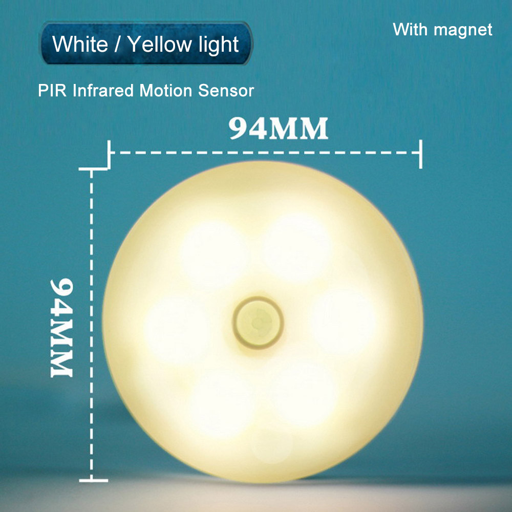 Wholesale 6Led Rechargeable Light Control PIR Infrared Motion Sensor Nightlight Lamp