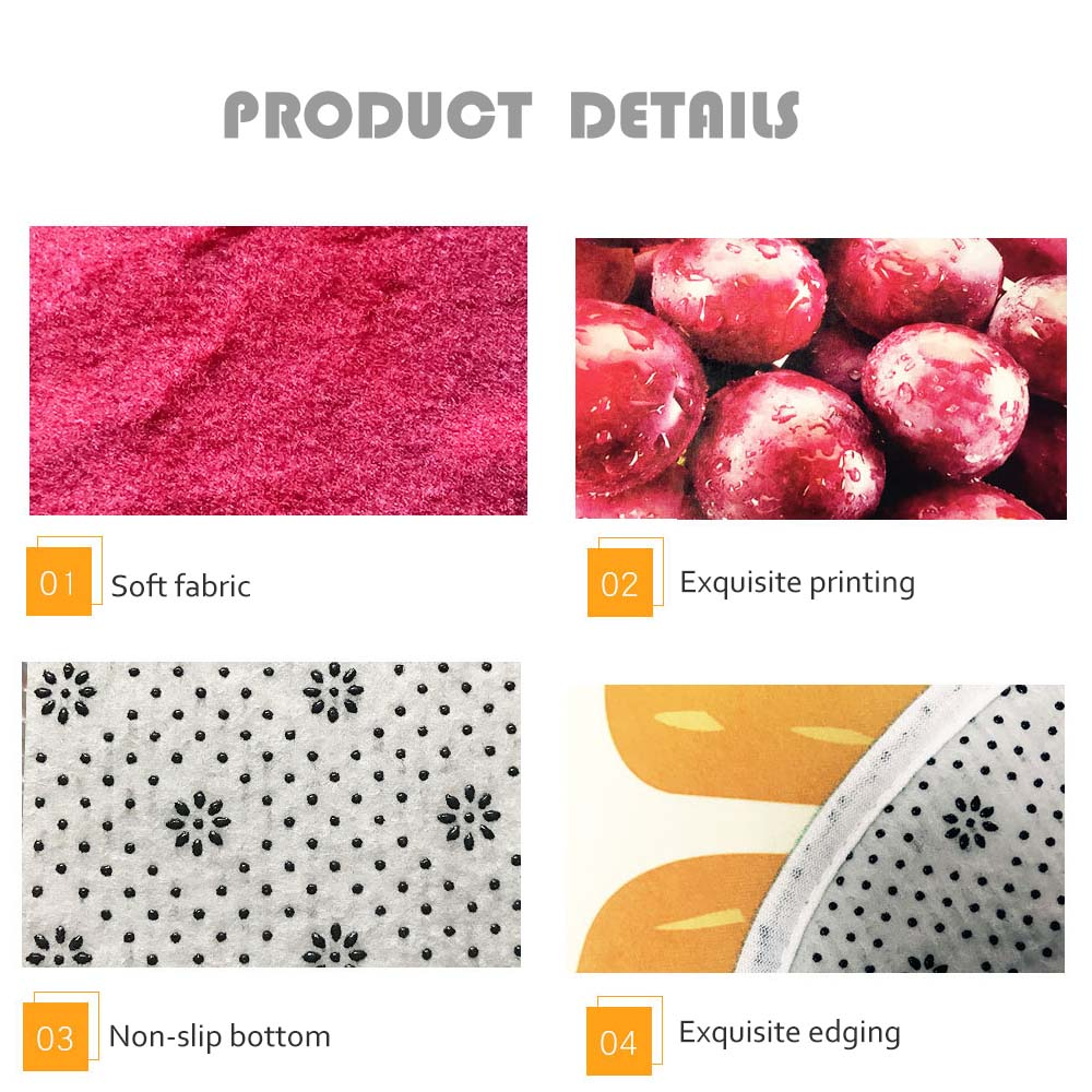 3D Pattern Fruit Carpet Anti-slip Blanket Mat Pad Bathroom Floor Rug