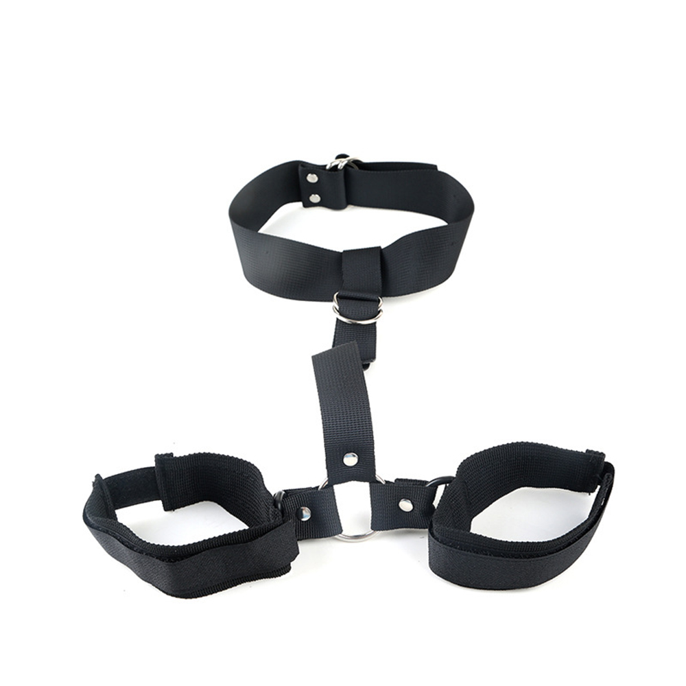 Adjustable Nylon Restraint Bandage Neck Handcuff Cuffs Couple Sex Strap