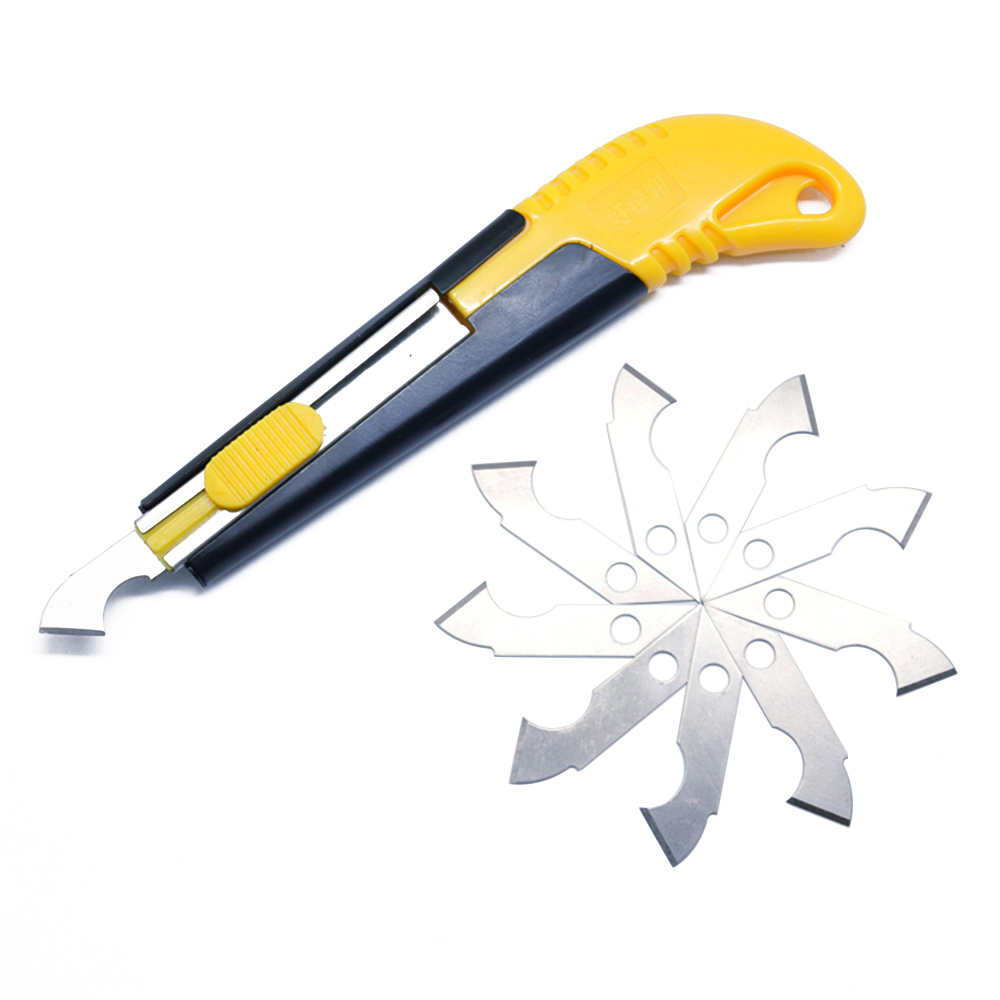 Acrylic Plastic Sheet Perspex Cutter Hook Cutting Tool W/10 Spare Blade