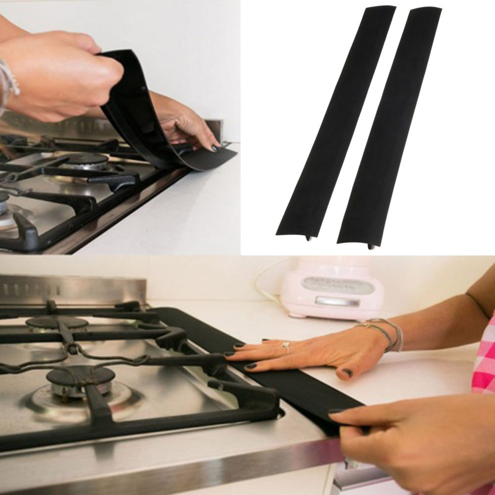 21 inch Silicone Kitchen Cover Oven Guard Spill Seal Filler Flexible Accessory