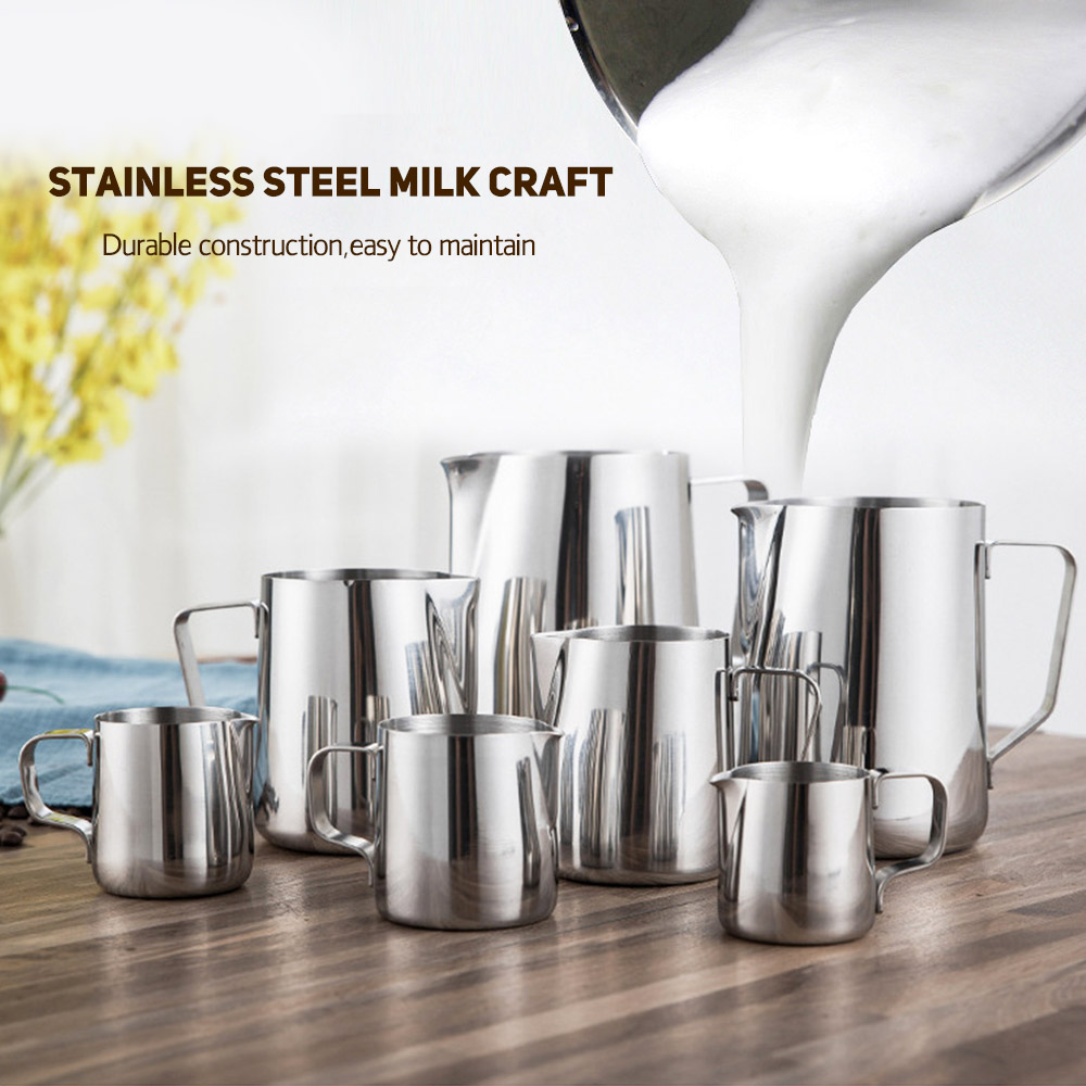 Stainless Steel Milk Craft Coffee Latte Frothing Art Jug Pitcher Mug Cup