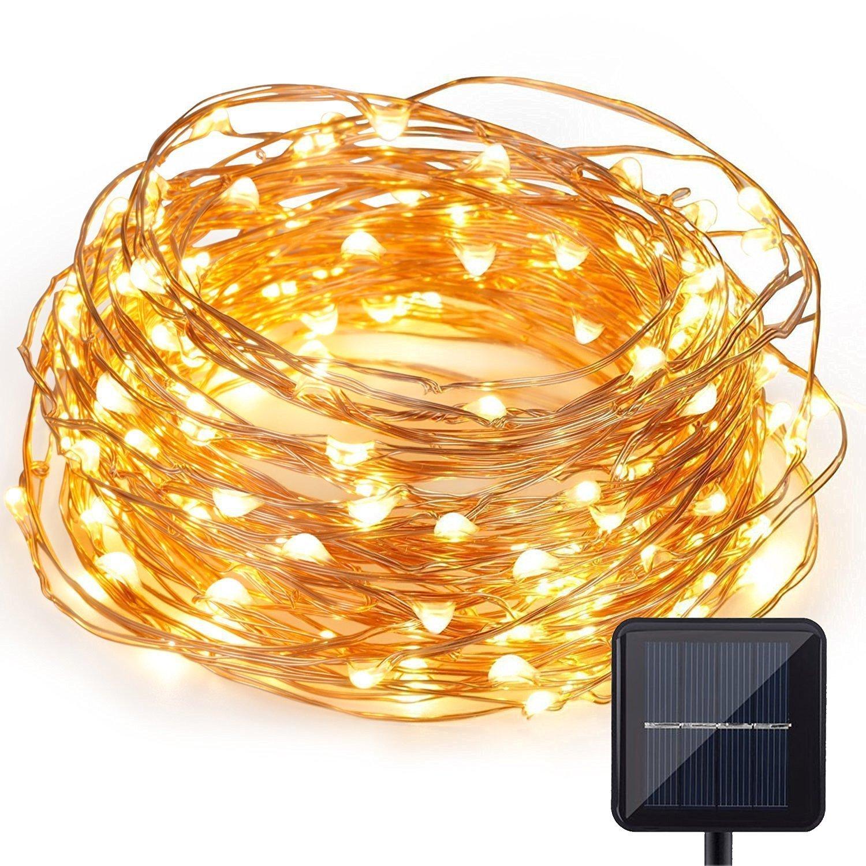 200LED Solar Copper Wire Waterproof Starry Fairy String Light Decor