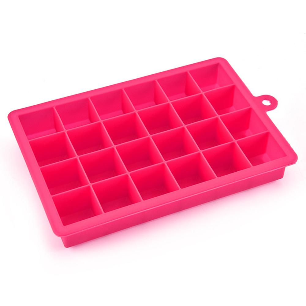 24-Hole Silicone Ice Cube Tray Mold Maker Mould Fridge Freezer DIY Tool