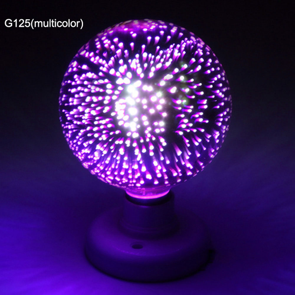 E27 6W Colorful 3D Christmas Holiday LED Fireworks Light Lamp Bulb Decor