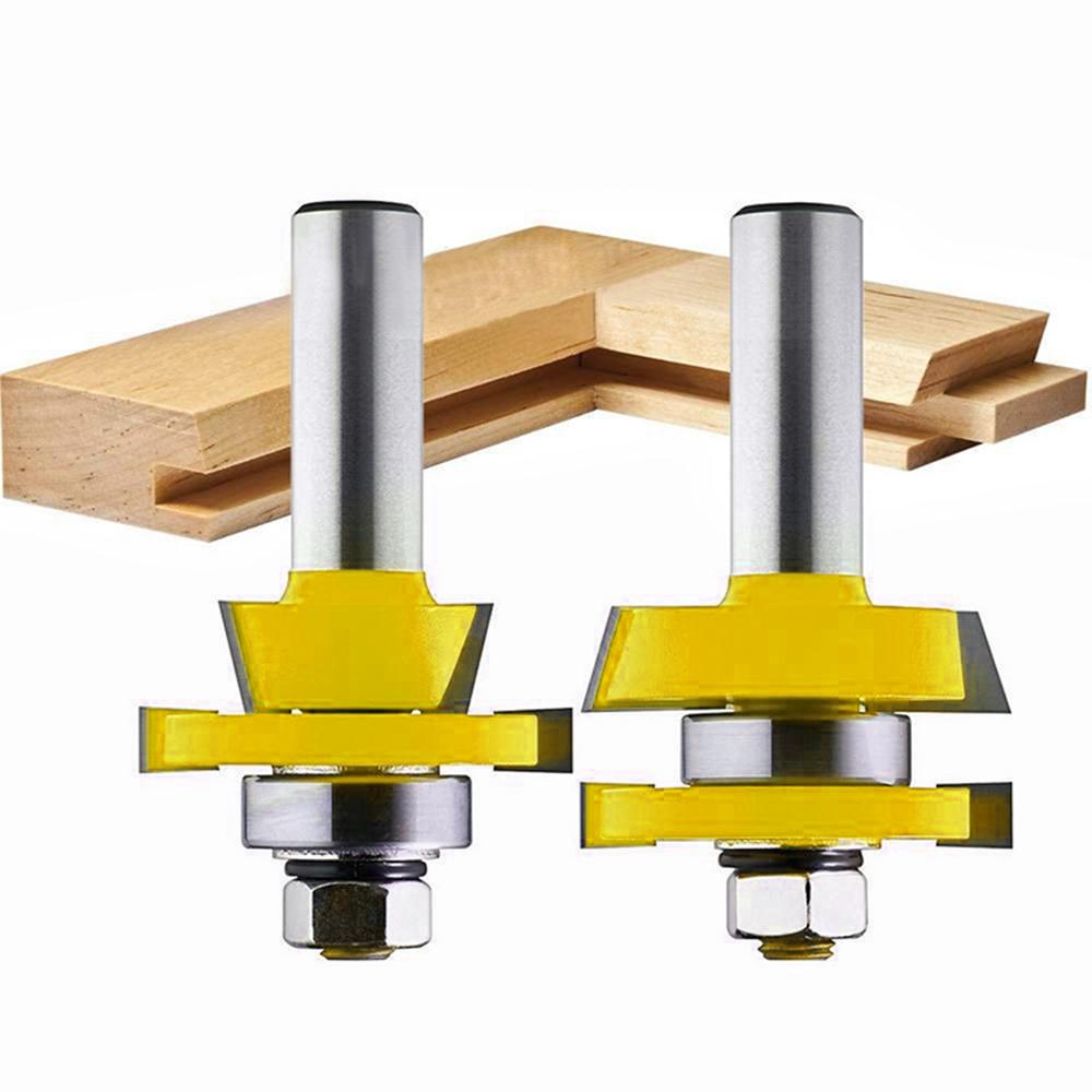 1/2Inch Shank Raised Panel Cabinet Door Router Bit Woodwork Tenon Cutter