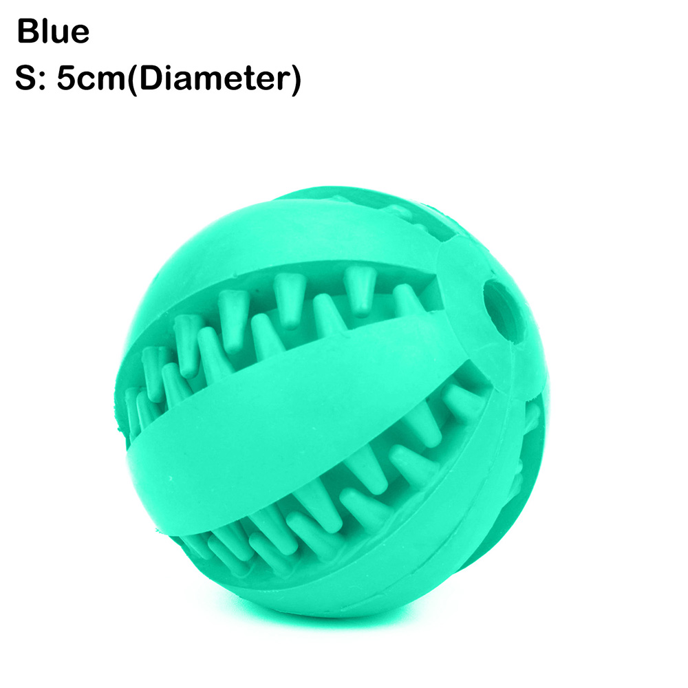 Pet Dog Bite Resistant Toy Food Treat Feeder Tooth Chaw Cleaning Ball