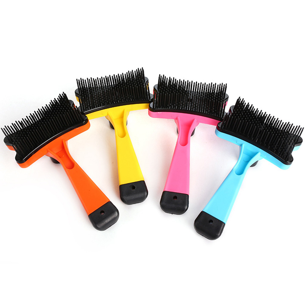 Pet-Grooming-Comb-For-Pet-Cats-Dogs-Deshedding-Trimmer-Grooming-Massage-Rak thumbnail 8