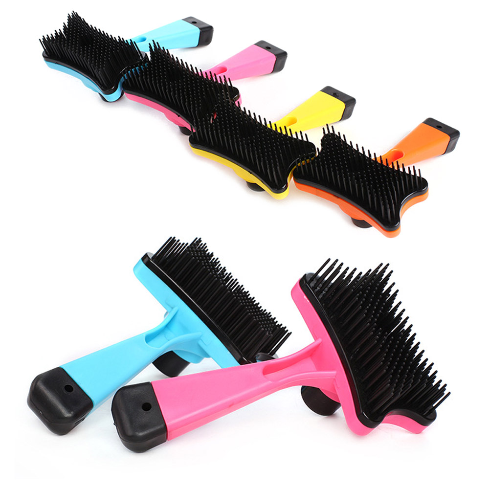 Pet-Grooming-Comb-For-Pet-Cats-Dogs-Deshedding-Trimmer-Grooming-Massage-Rak thumbnail 4