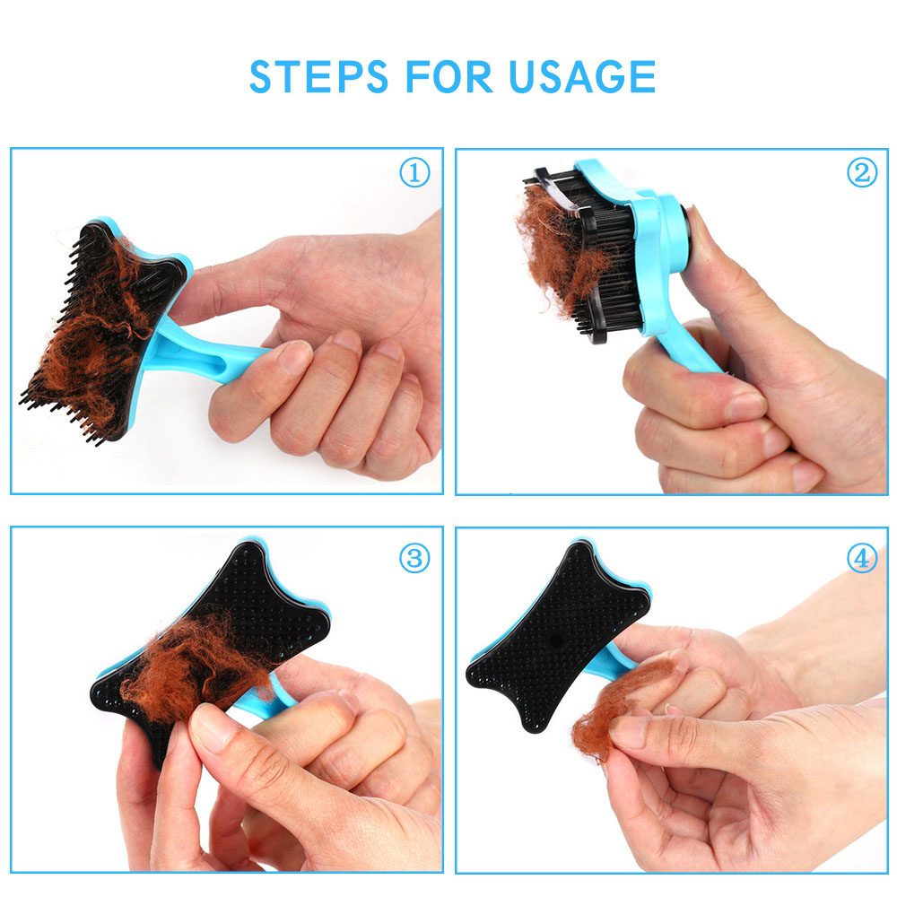 Pet-Grooming-Comb-For-Pet-Cats-Dogs-Deshedding-Trimmer-Grooming-Massage-Rak thumbnail 2