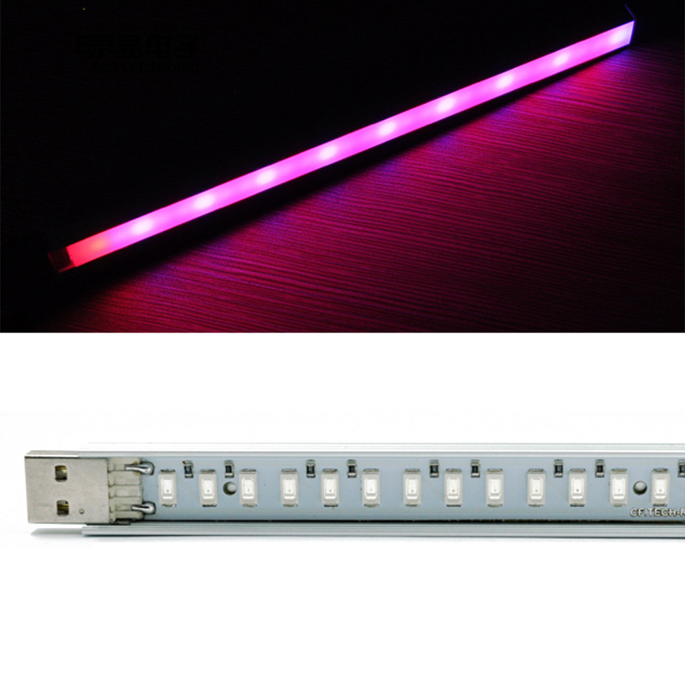 Portable 27Led USB Plant Grow Light Lamp Flowering Vegs Potted Hydroponics