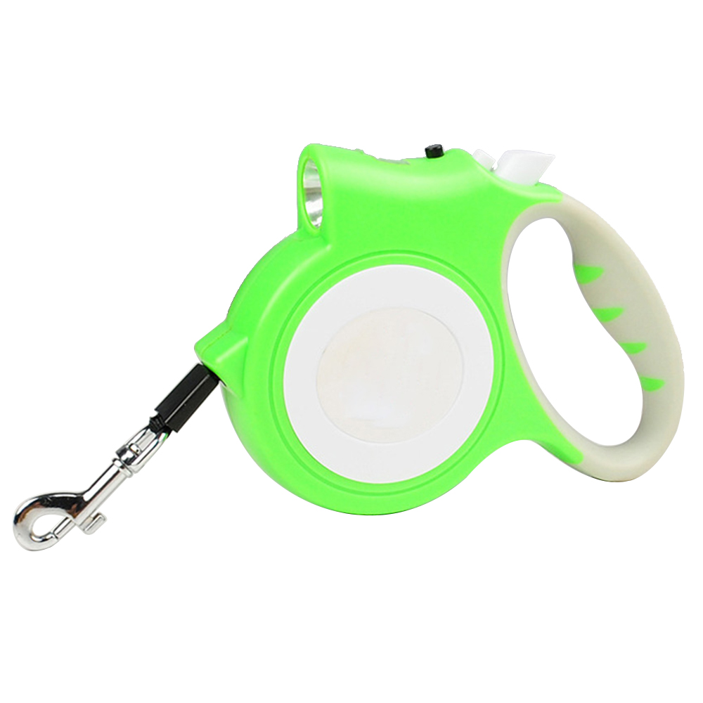 Flexi Retractable Dog Leash Pet Dog Lead Cord Tape W//LED Traction Light  5M #ur