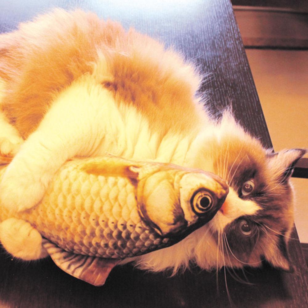 Catnip Fish Cat Toy Interactive Soft Plush Pillow Chew Bite Kick Supplies