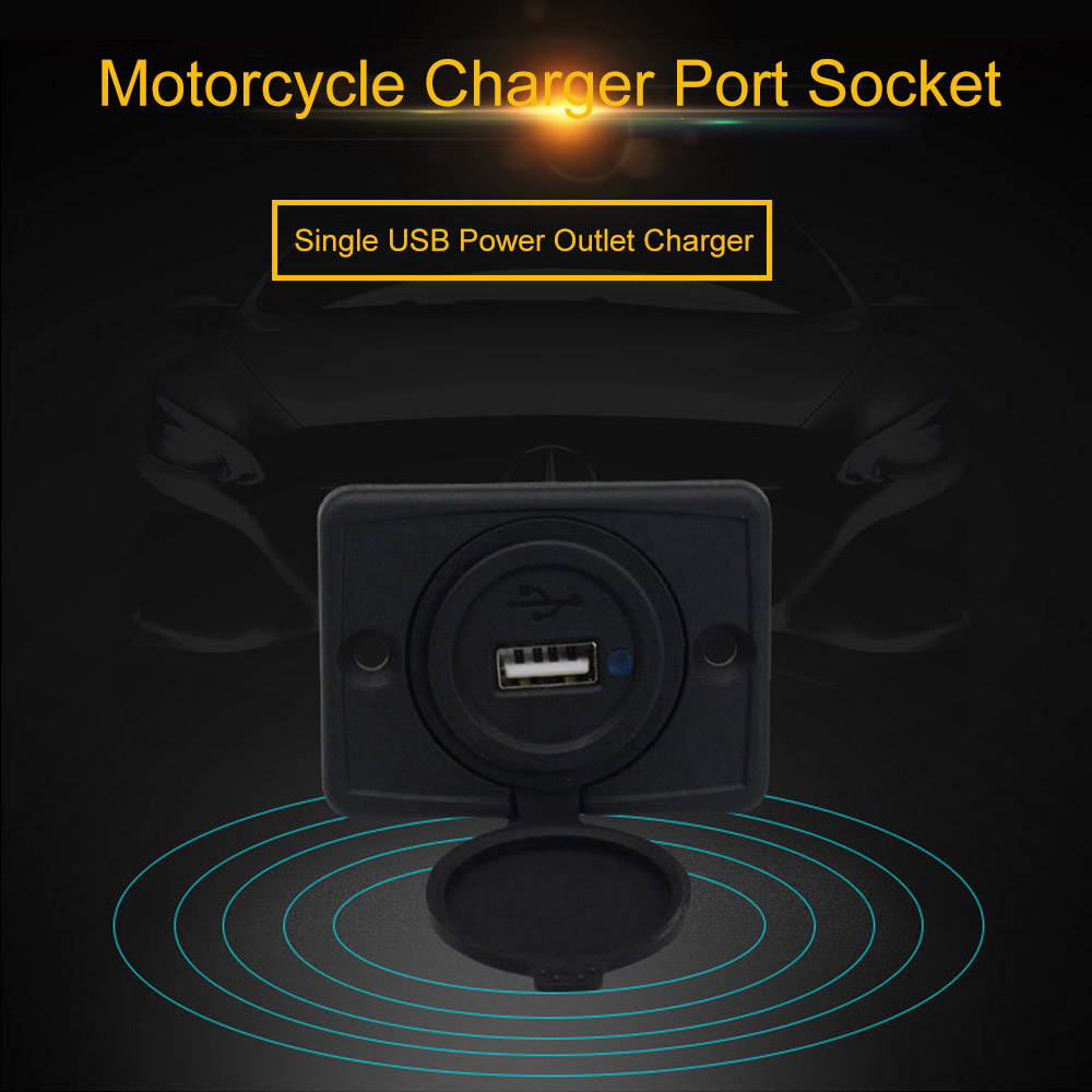 3.1A USB Port Charger Socket Outlet 12-24V for Motorcycle Car Marine Boat