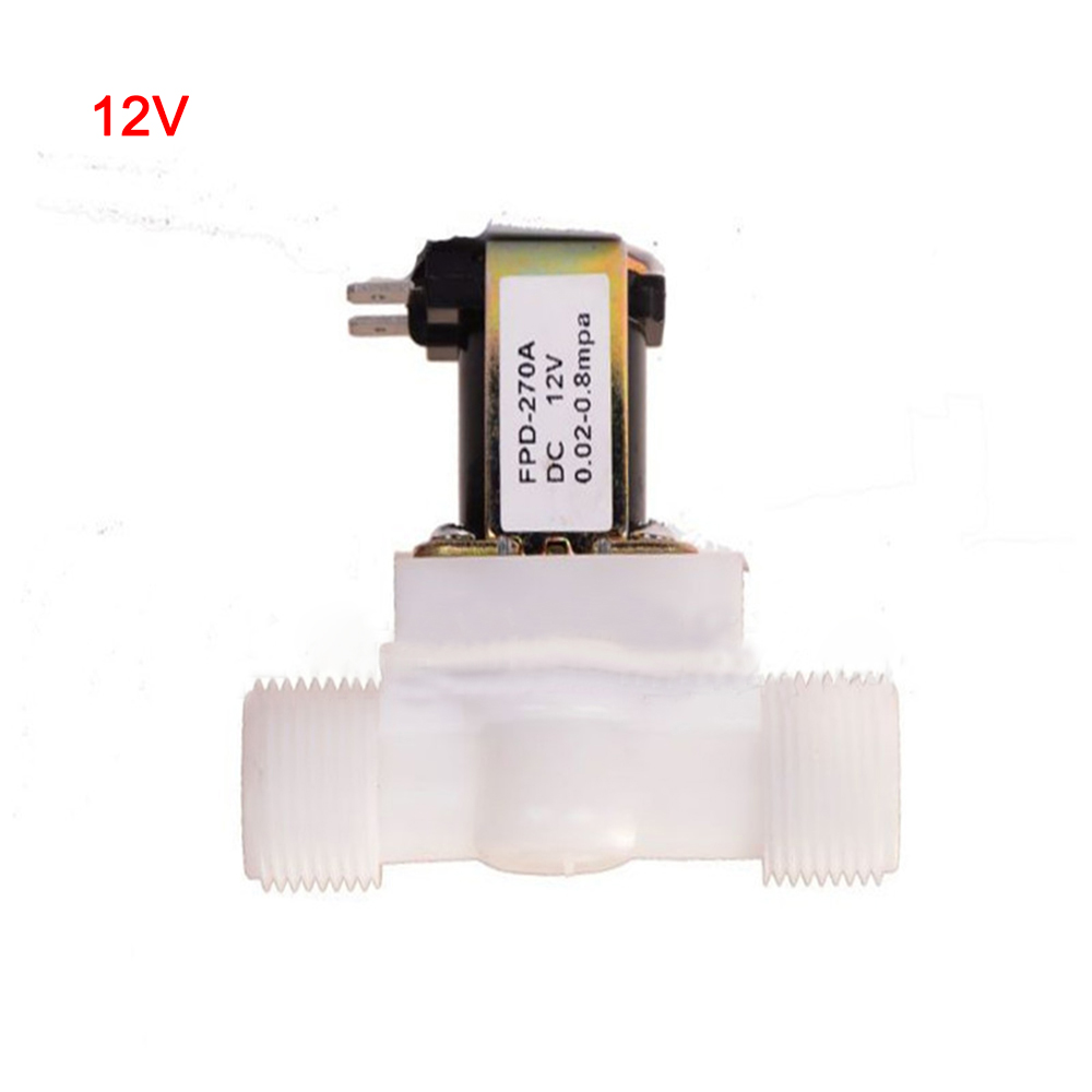 Copper 1//2Inch Electric Solenoid Valve Magnetic DC12V N//C WaterAir Inlet Switch