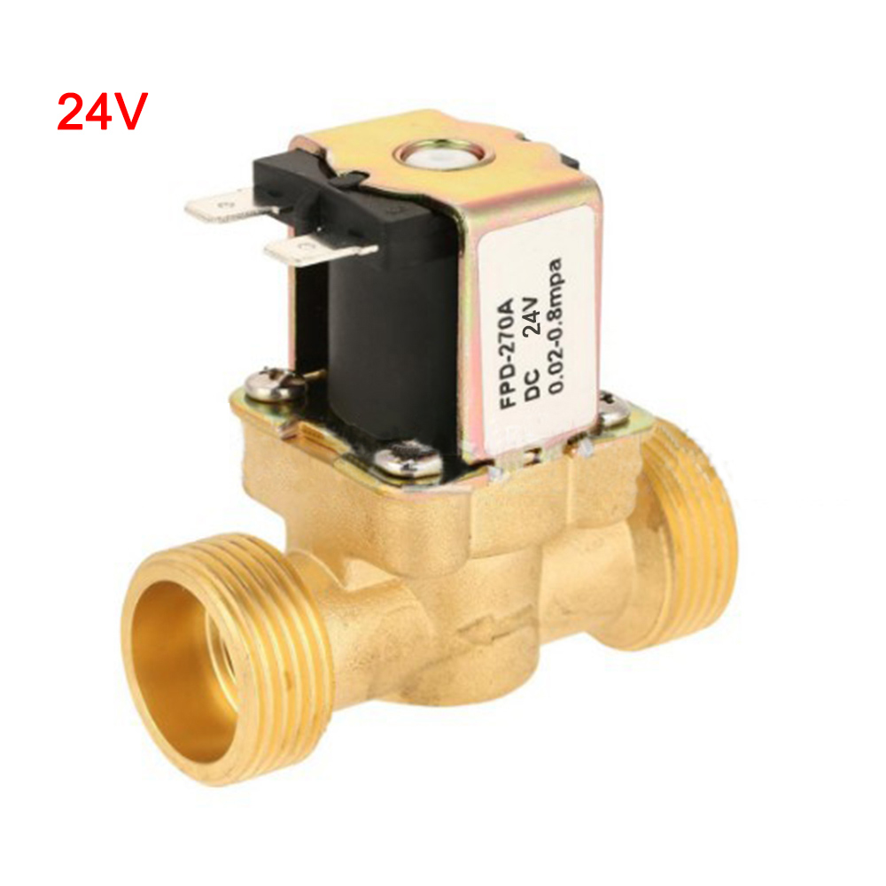 Electric Solenoid Valve AC220V Brass Electric Solenoid Valve Magnetic N//C for Water Inlet Switch