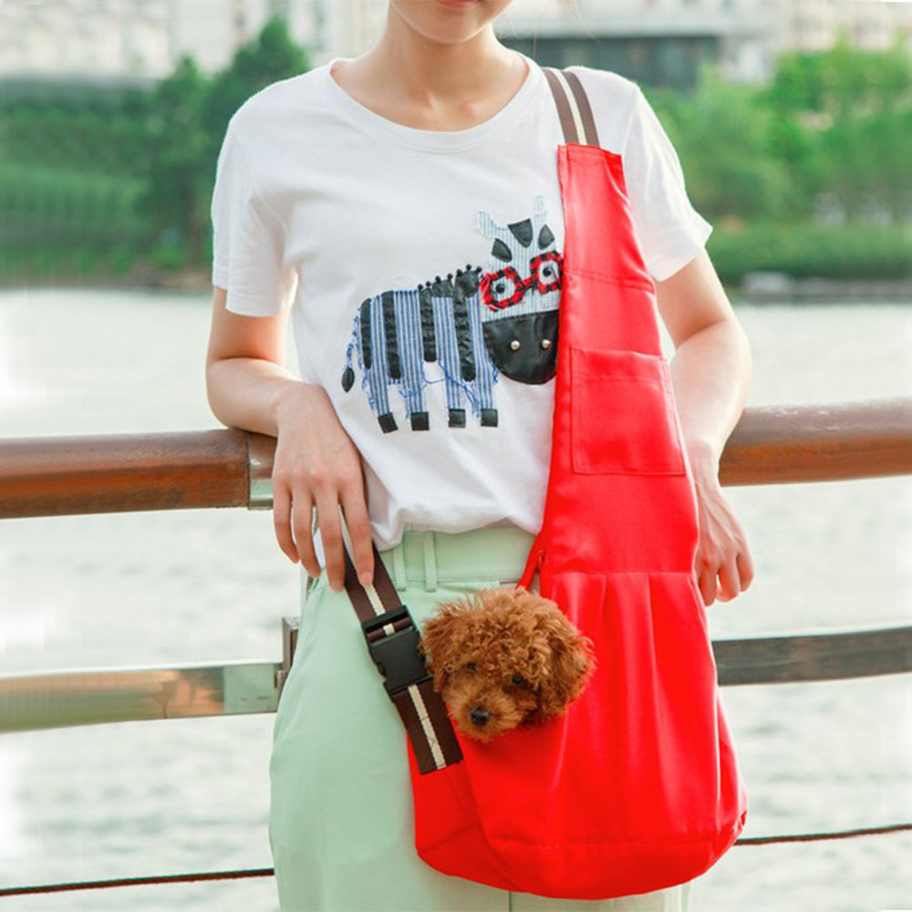 Pet-Carrier-Bag-Pet-Sling-Front-Pack-Dog-Puppy-Carrying-Travel-Bag-Tote-Bag-New