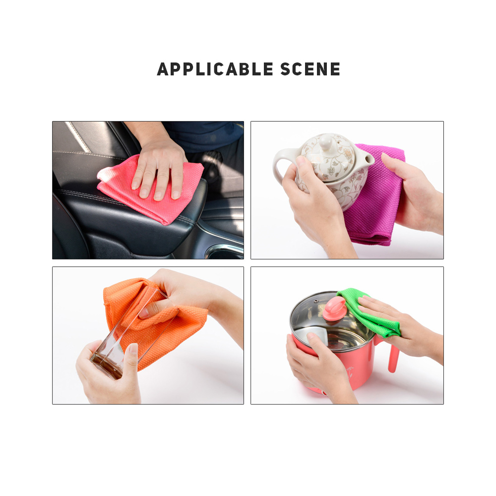 3pcs/set Microfiber Cleaning Cloths Duster Car Window Polish Wash Towel