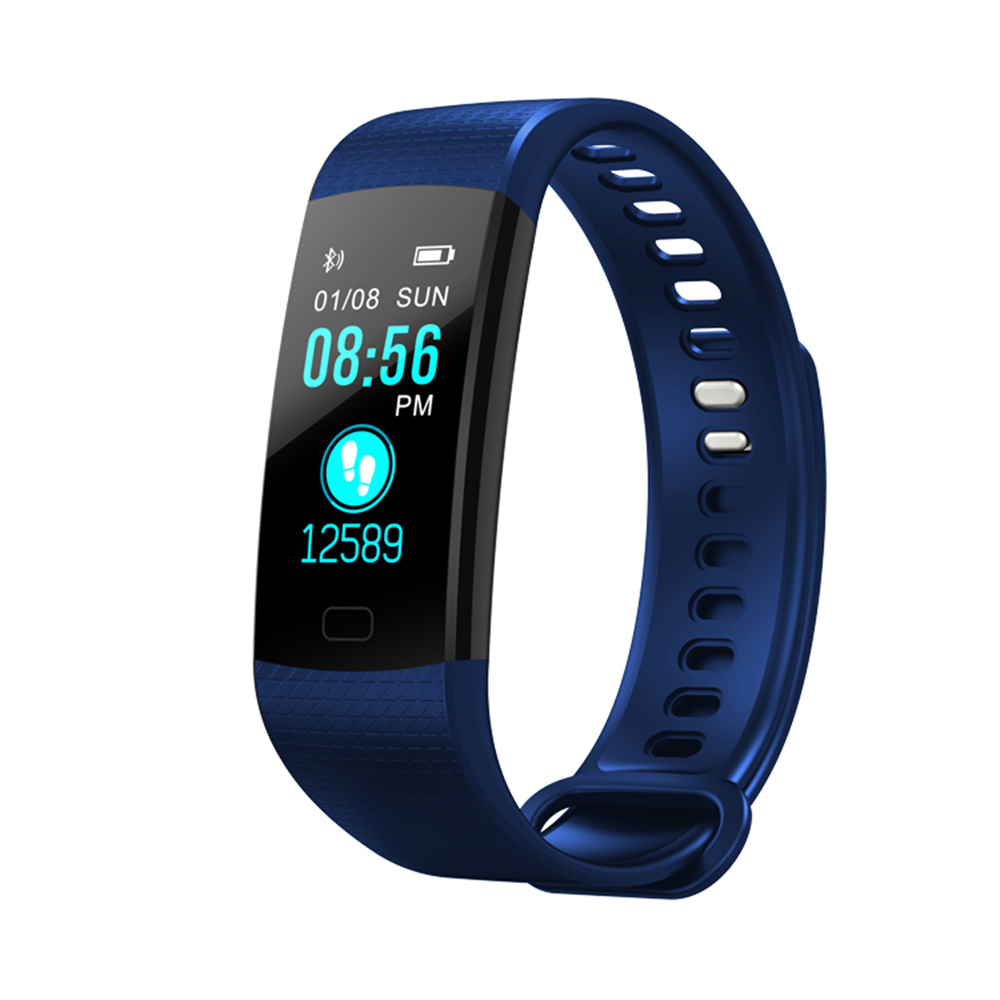 Wholesale Fitness Tracker Wireless Bluetooth Track Watch W/Heart Rate Monitor Blue