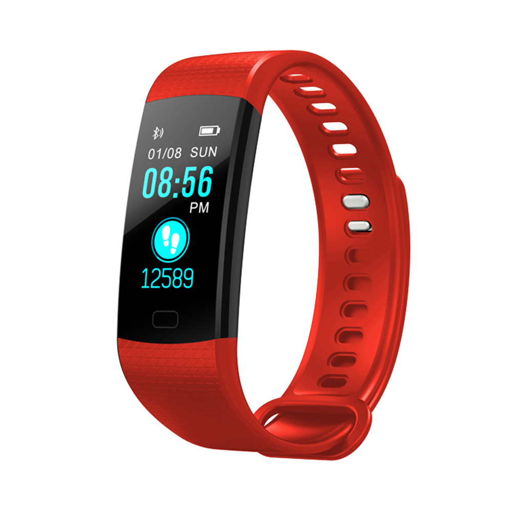 Wholesale Fitness Tracker Wireless Bluetooth Track Watch W/Heart Rate Monitor Red