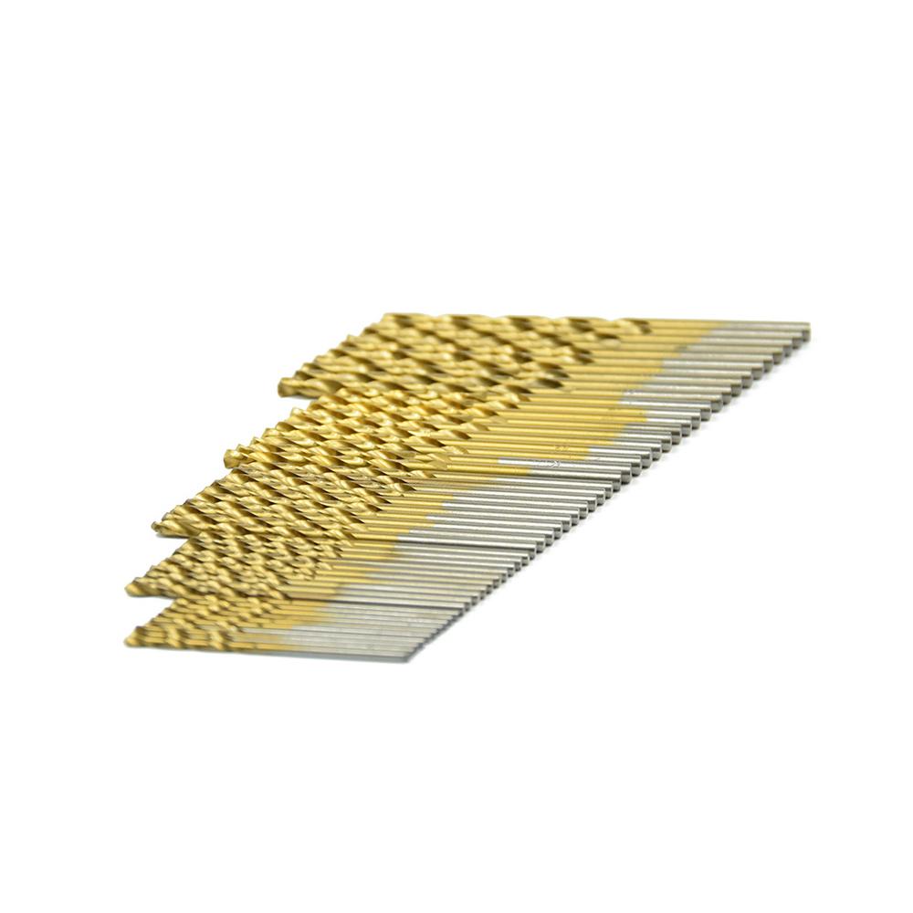 50PCS Mini Micro Round Shank Drill Bits Set Small Precision HSS Twist Drill