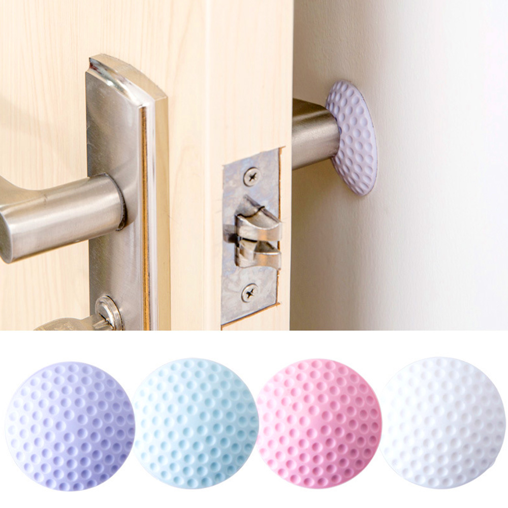 Wall Protector Door Stop Bumper Rubber Doors Stopper Wall Sticker Pad Guard