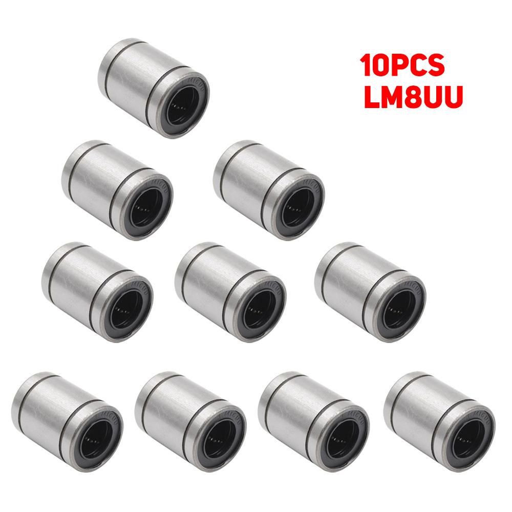 LM8UU Linear Bearing 8x15x24mm Ball Bearings Bushing For 3D Printer 10PCS