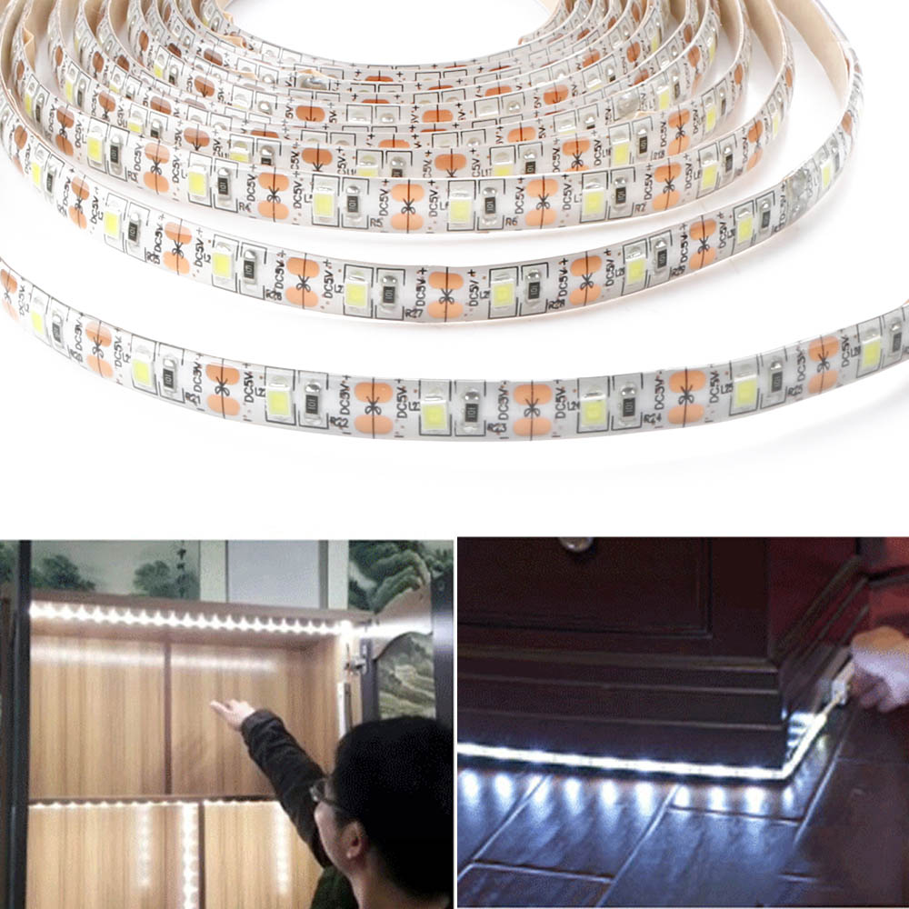 Wholesale DC5V 2835SMD Underbed Closet Waterproof 60LED Strip Light 3M Warm White