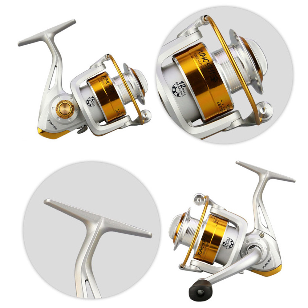 Left/Right Interchangeable Saltwater Freshwater Spinning Fishing Reel Wheel