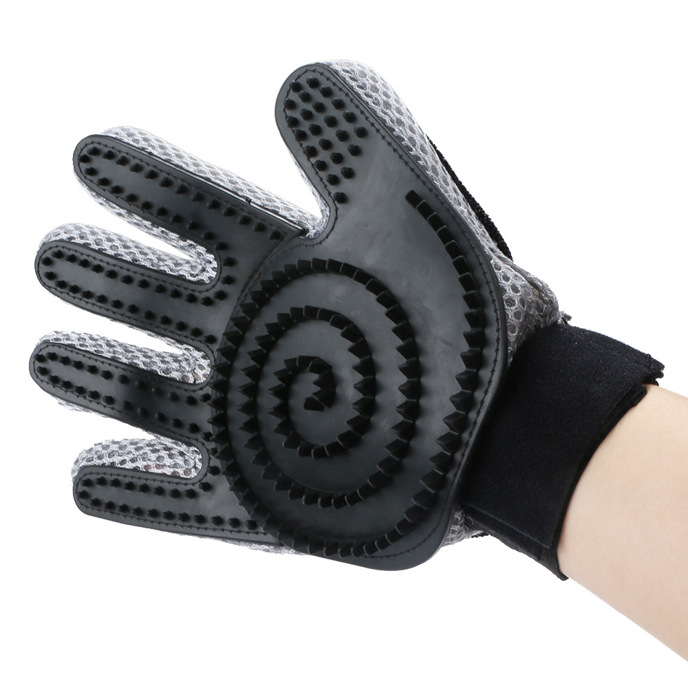 Pet Grooming Glove,Pet Hair Glove Pet Massage Mitt - 2-in-1 Hair remove Glo