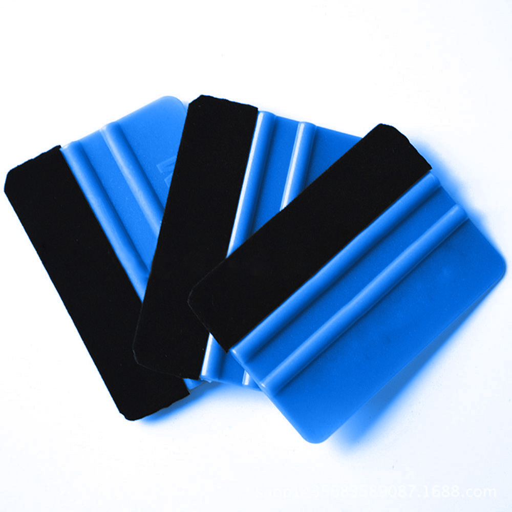 Car Film Wrapping Tool Blue Scraper Squeegee W/Felt Edge Styling Sticker