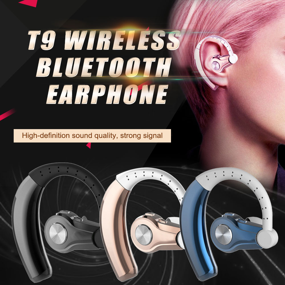 Wholesale T9 WirelessBluetooth 4.1 Hansfree Stereo Sports Headset Earphone Headphone