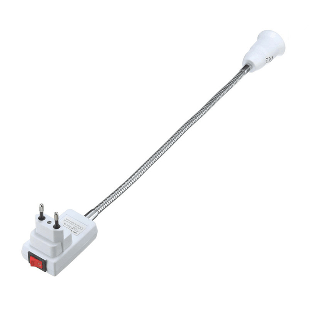 Wholesale 40cm Flexible E27 LightBulb Adapter Extension Converter Wall Socket EU Plug