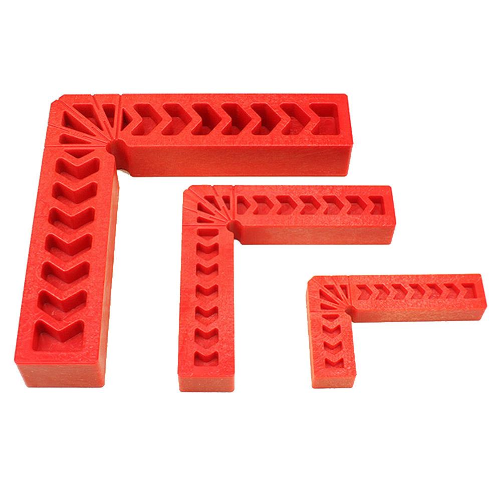 90 Degree L Shape Corner Plastic Ruler Clamping Square Right Angle Clamps Orange