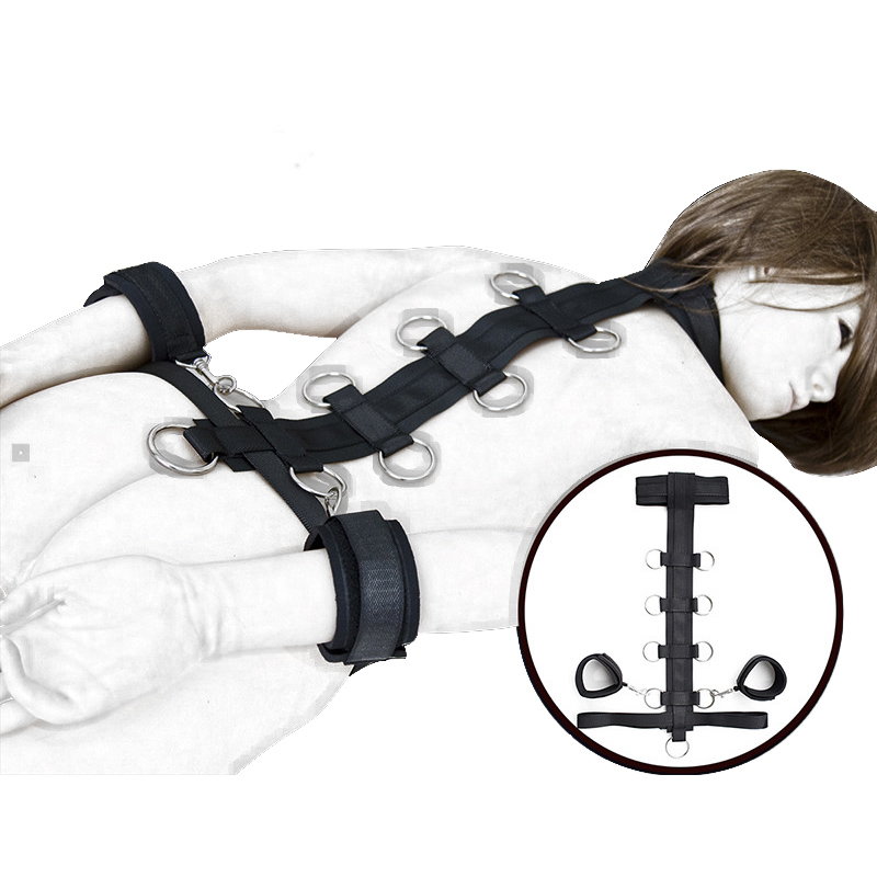 Slave Collar W/Handcuffs Bondage Restraint Ankle Hand Cuffs Sex Game Toy