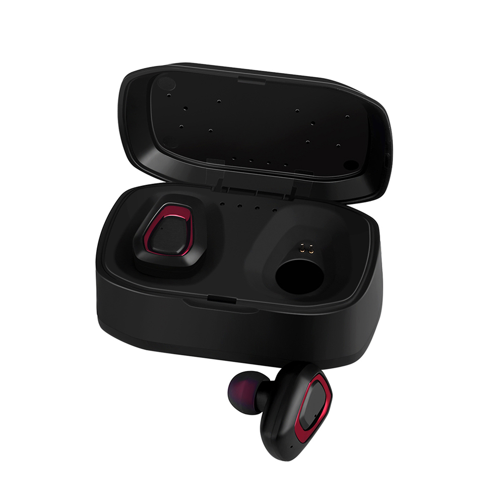 Wholesale Mini Wireless Bluetooth Sports Earbud Earphone Headphone W/Charge Case Red