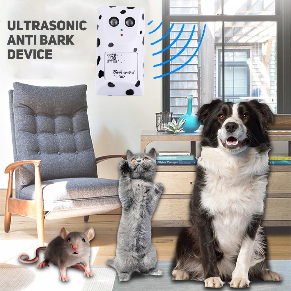 Durable Ultrasonic Pet Dog Stop Barking Anti Bark Training Trainer Device US