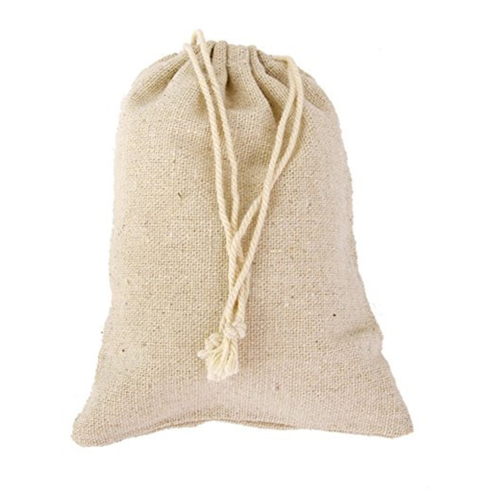 30pc 10x8cm Jute Sack Drawstring Bag Jewelry Christmas Wedding Gift Pouch