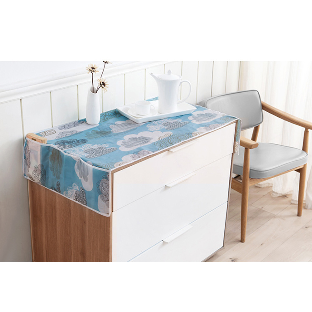 Refrigerator Waterproof Dust Dirt Proof Floral Print Cover W/Storage Bag