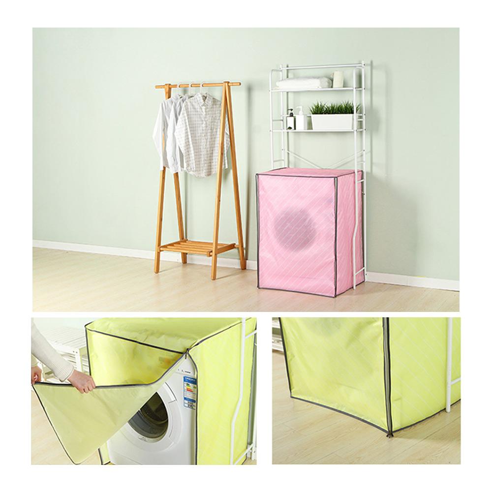 JW/_ Waterproof Zippered Washing Machine Top Cover Dust Guard Dryer Dustproof C