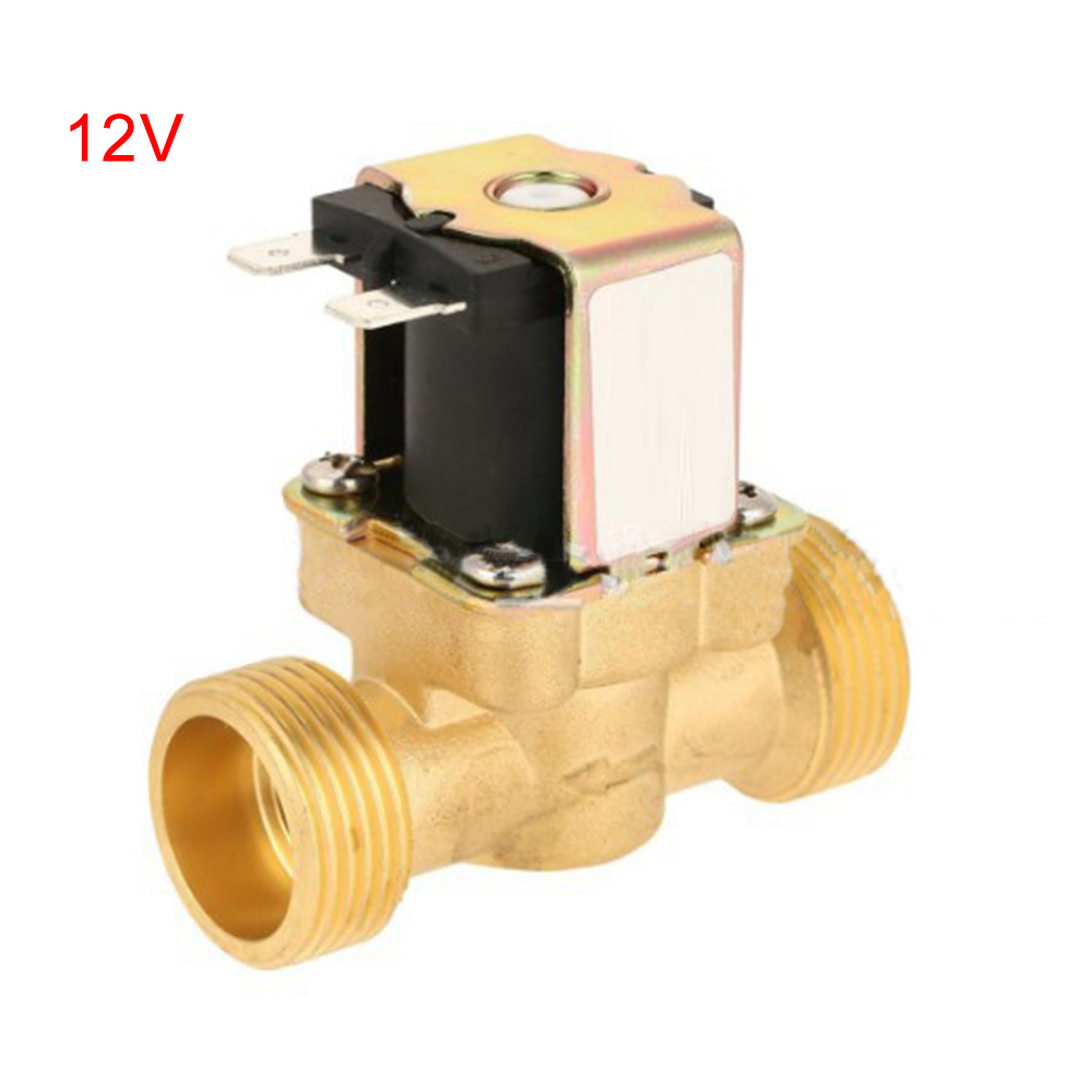 Wholesale Copper Water Solenoid Valve Electric DC12V N/C Air Inlet FlowSwitch 1/2Inch