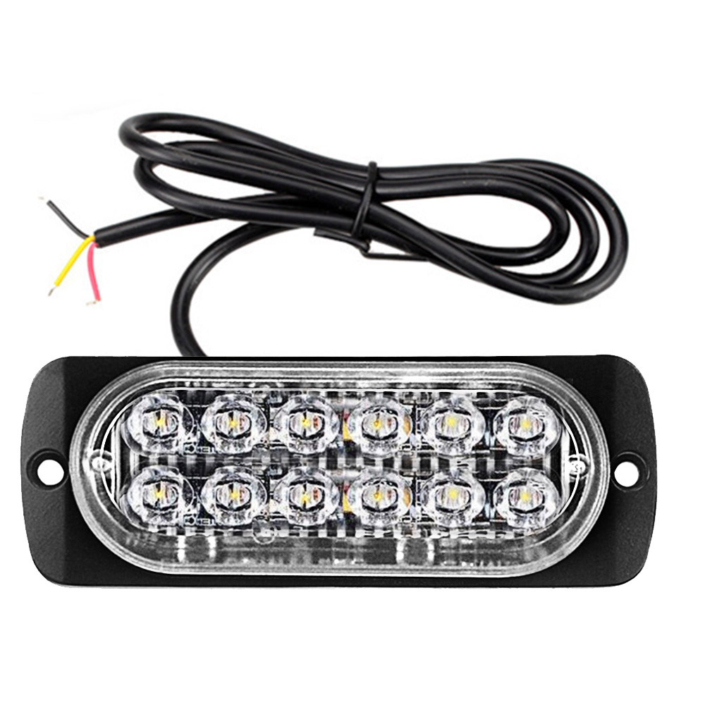 12LED Car Truck Motorcycle Strobe Flash Emergency Warning Light Lamp Bar