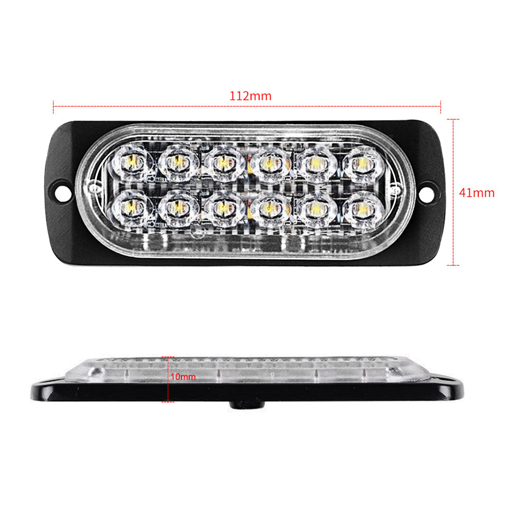 12LED Car Truck Motorcycle Strobe Flash Emergency Warning Light Lamp Bar #ur