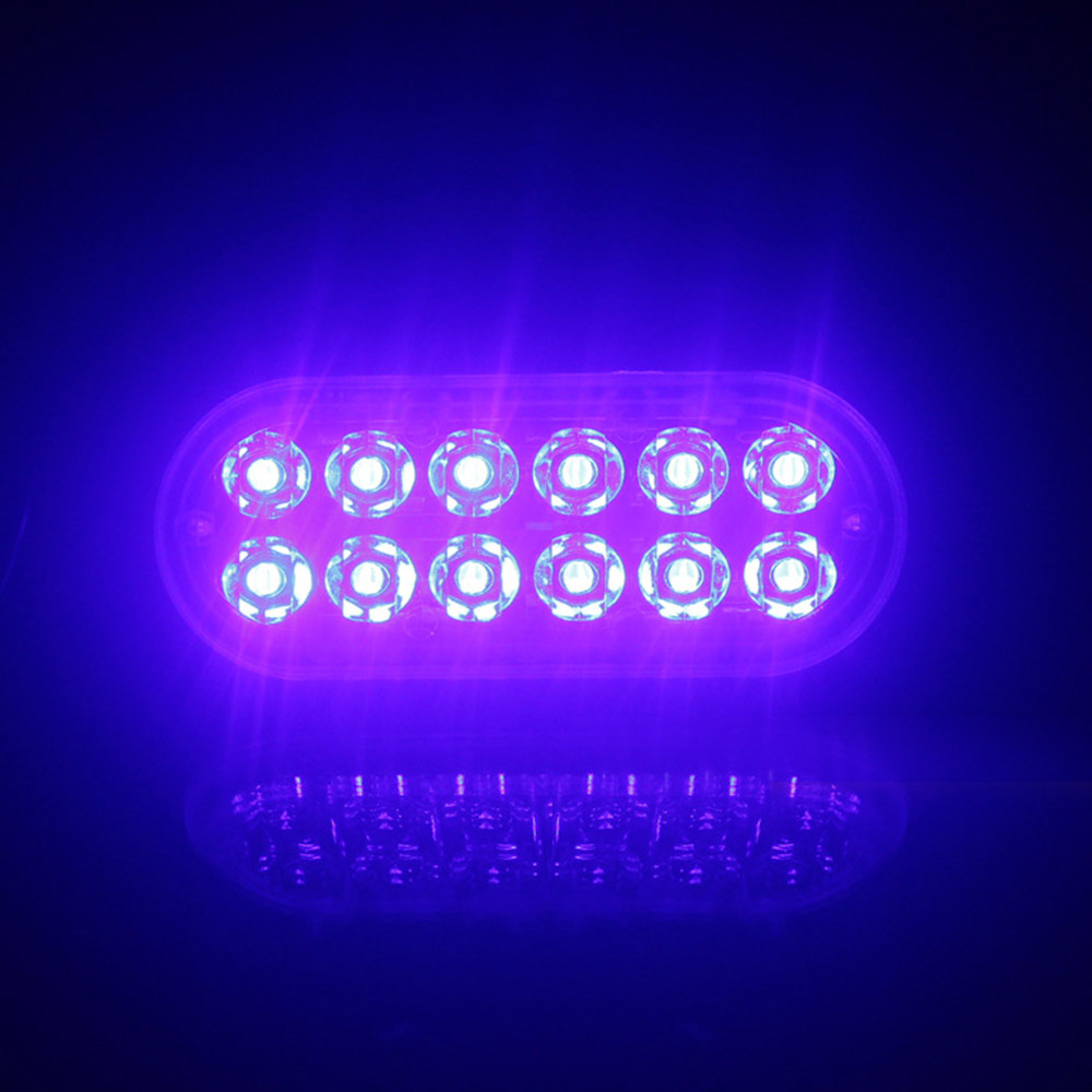 12LED 18W Car Truck Van Strobe Flash Emergency Warning Light Bar Lamp