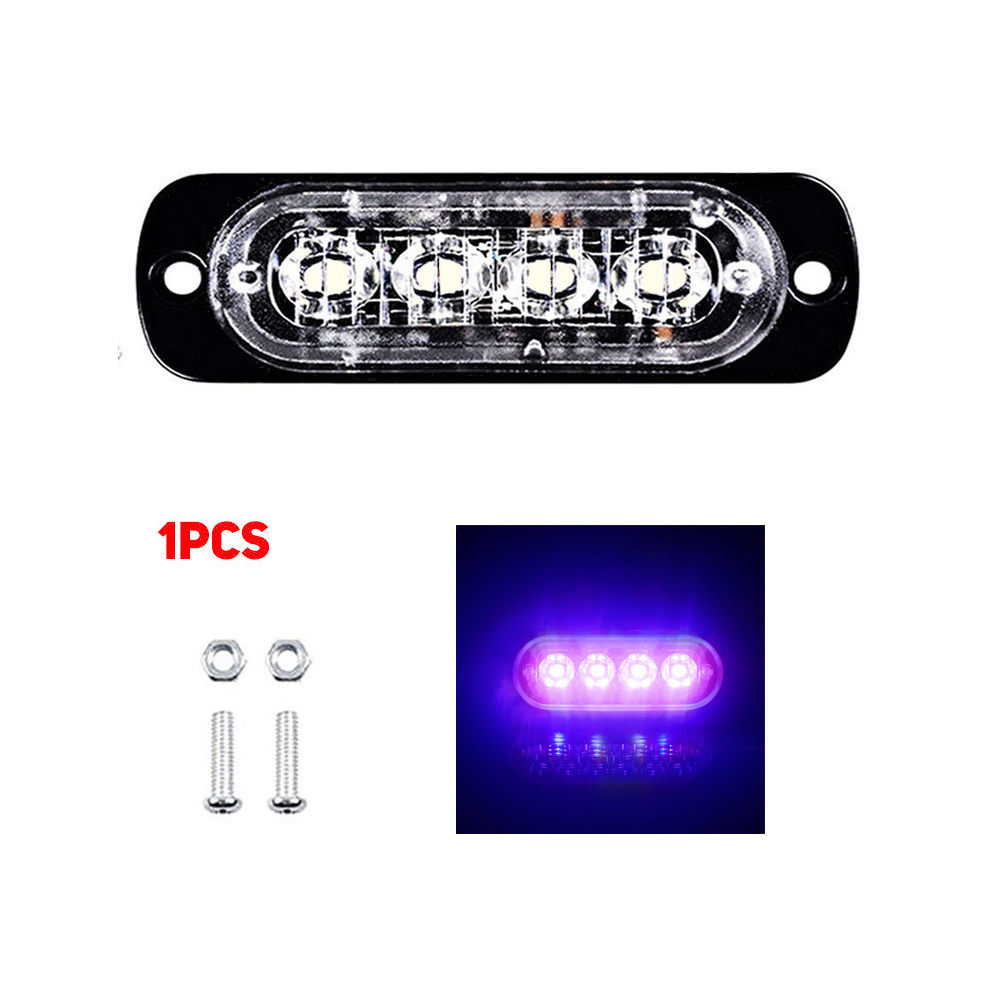 4LED 12W Car Truck Motorbike Van Strobe Flash Emergency Light Bar Lamp