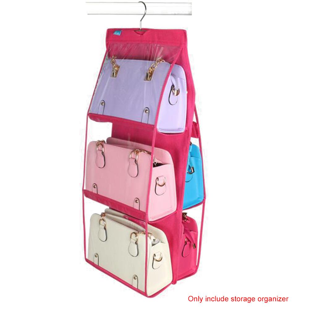 Multifunction Waterproof Transparent Handbag Backpack Storage Organizer