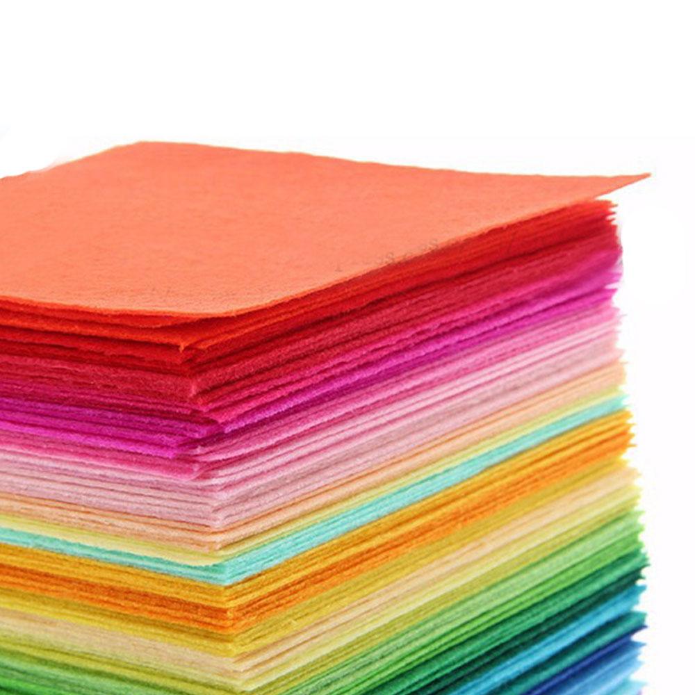 40pc 15X15cm Soft Felt Fabric Square Sheet Assorted Color for DIY Crafts