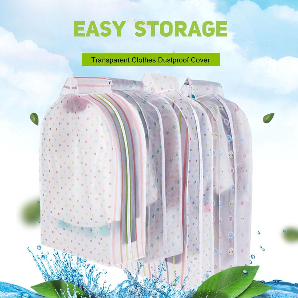 Transparent Clothes Garment Coat Dust Cover Protector Dustproof Storage Bag